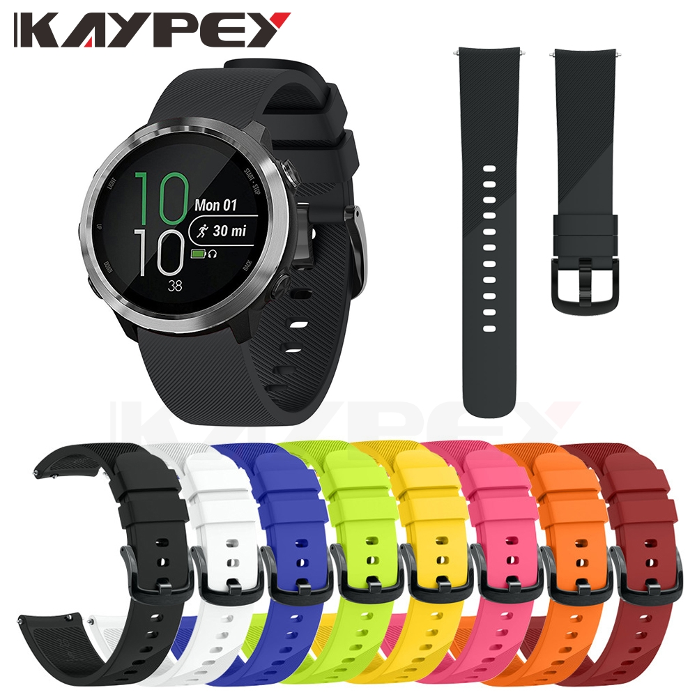 Colorful Soft Silicone Replacement Strap For Garmin Vivoactive 3 Vivomove3 HR Smart Wristband For GARMIN Forerunner 645