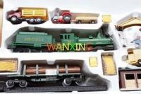 1/87 Electric Train Model Plastic Toy HO Rail Train Kit Sand Table Model Toys For Children Free Shipping