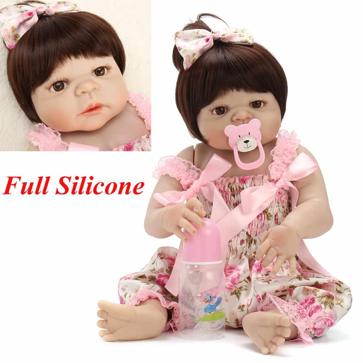 56 cm Silicone souple Reborn bébé réaliste bébé poupée bambin Bonecas jouet enfant poupée Bebes Reborn Brinquedos Reborn jouets enfants cadeaux