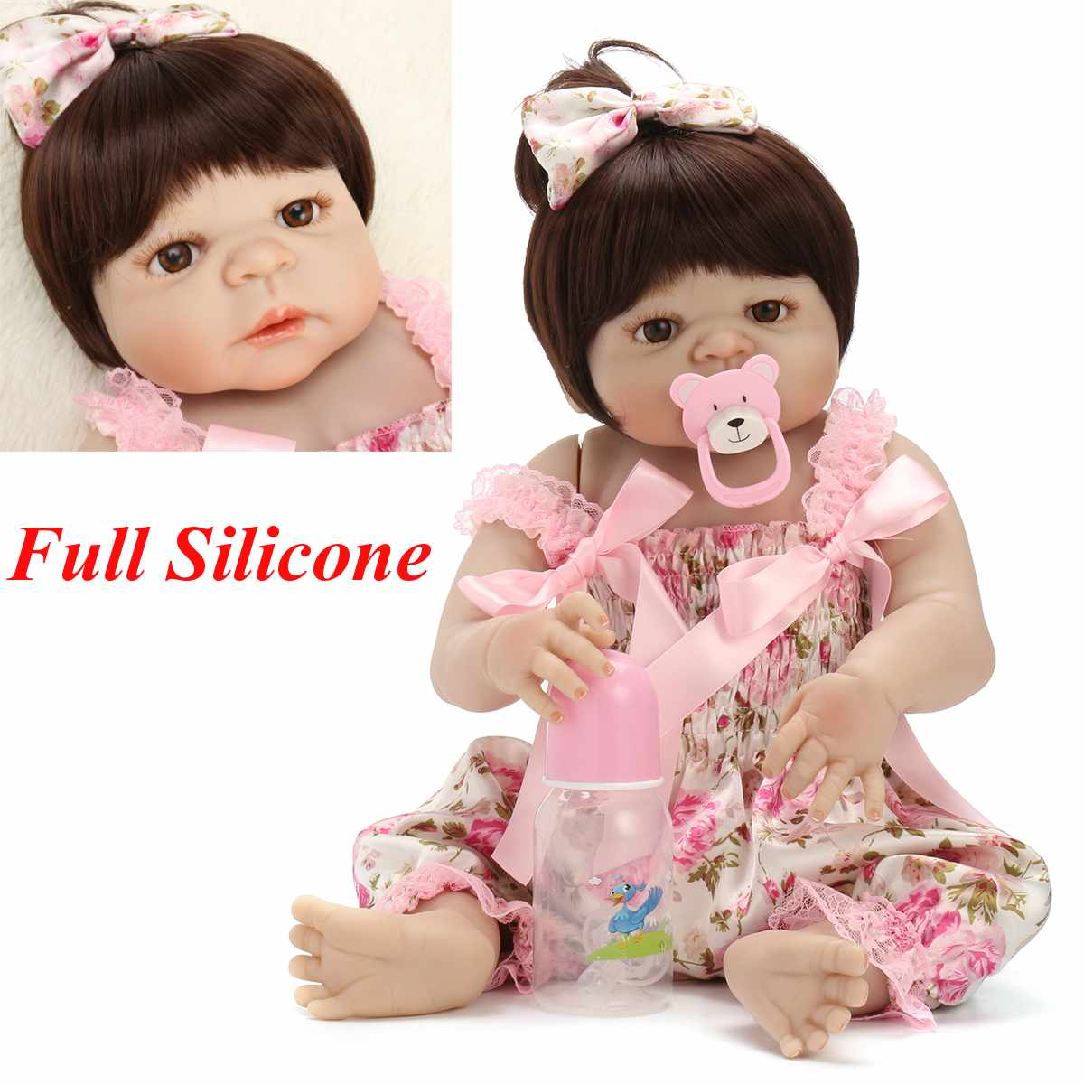 56cm Soft Silicone Reborn Baby Lifelike Baby Doll Toddler Bonecas Toy Kid Doll Bebes Reborn Brinquedos Reborn Toys Kids Gifts56cm Soft Silicone Reborn Baby Lifelike Baby Doll Toddler Bonecas Toy Kid Doll Bebes Reborn Brinquedos Reborn Toys Kids Gifts