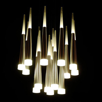 Modern Ceiling Lights Fashion Luxury Home Dining Living Room Stairs Decoration LED Ceiling lamp Cone tube Spiral Hanging light