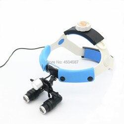 Lupa medyczna 4.0/5.0/6.0/6.5X lupa dwuokularowa medyczna chirurgia stomatologiczna lupa + 3W LED latarka czołowa medyczna reflektor