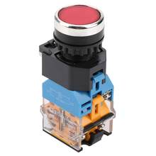 220V/380V Self-Locking Red Push Button Switch with LED Light LA38-11DNZS(LA38-11DS) touch switch Hot Sale(China)