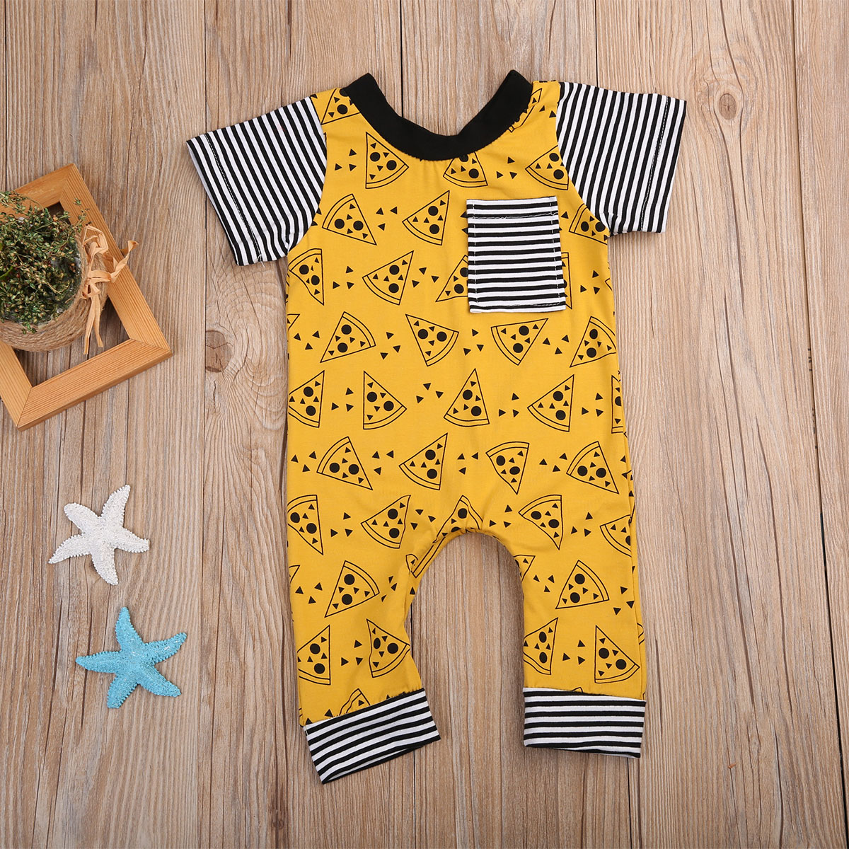Pudcoco Boy Clothes Infant Toddler Baby Girls Boys Cookies Print One-piece   Romper   Outfits Costume