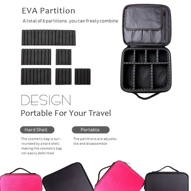 2019 Professional Toiletry Bag Cosmetic Bag Organizer Women Travel Make Up Cases Big Capacity Cosmetics Suitcases For Makeup X32 4