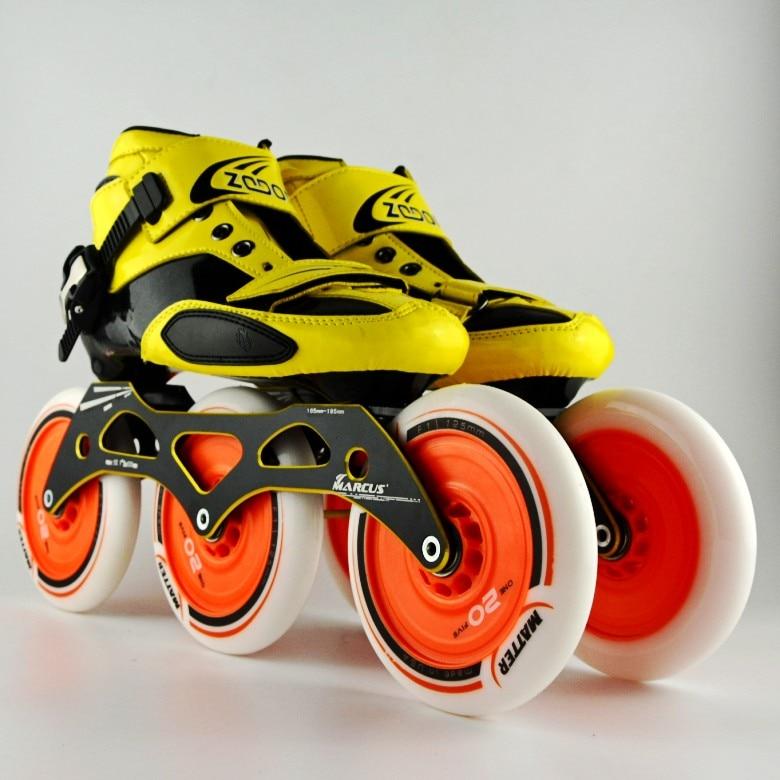 Pasendi Carbon fiber professionele schaatsen schoenen vrouwen/mannen inline skates racing schoenen volwassen kind schaatsen schoenen schaatsen - 3