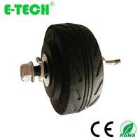 BLDC double shaft 4 inch gearless 24V/36V/48V 200W kit electric scooter motor wheel
