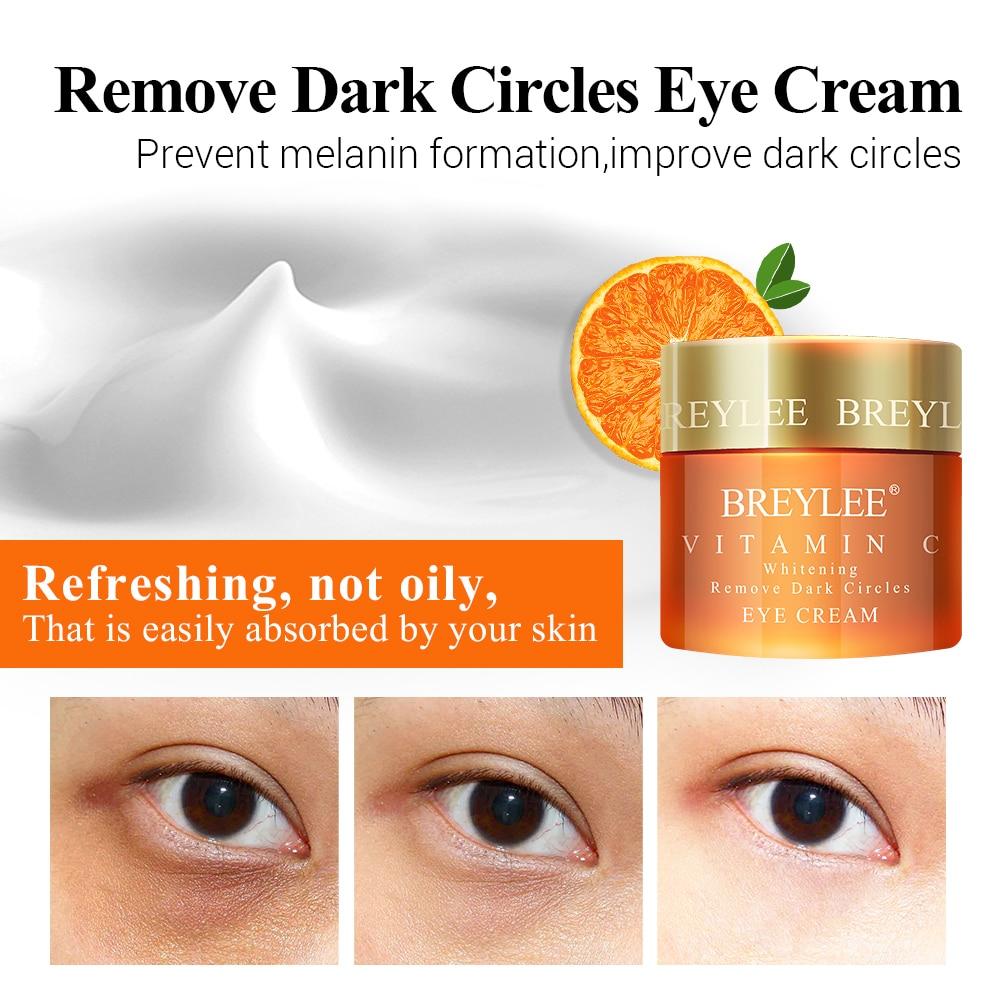 BREYLEE Vitamin C Whitening Set Face Serum Eyes Cream Facial Cream Remove Dark Circles Fade Freckles Spots Melanin Skin Care
