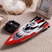 Горячая Радио пульт дистанционного управления двухмоторная высокоскоростная лодка RC гоночный детский открытый гоночный катер