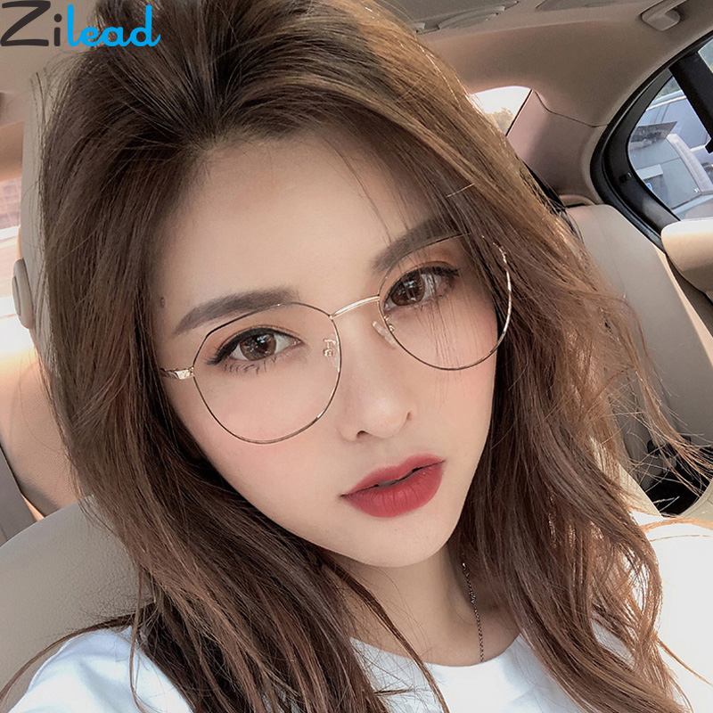 Zilead Polygon Metal Anti Blue Light Blocking Glasses Frame Men&Women Computer Games Goggles Eyeglasses Optical Spectacle Frame(China)