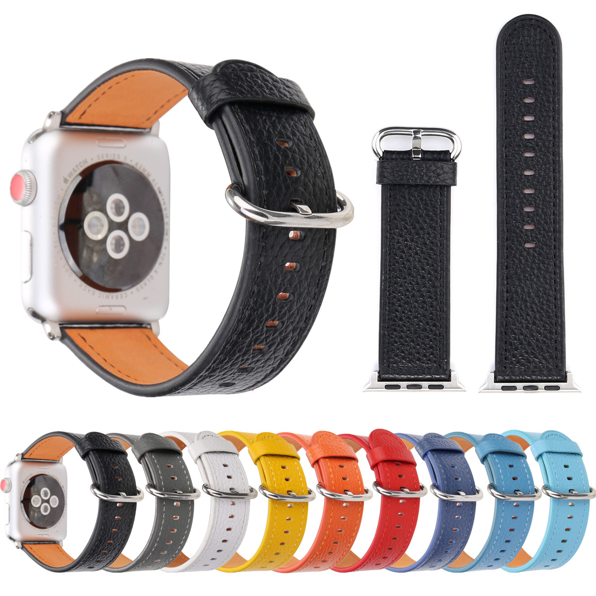 Watch Accessories Watchband For Apple Watch Bands 44mm 40mm Leather Watch Strap 42mm 38mm Series 4 3 2 For iWatch Sport Bracelet