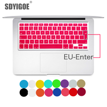 Laptop keyboard cover for macbook air 13 pro 15 inch A1466 A1502 A1278 A1398 EU Silicon Keyboard Cover Color protective film