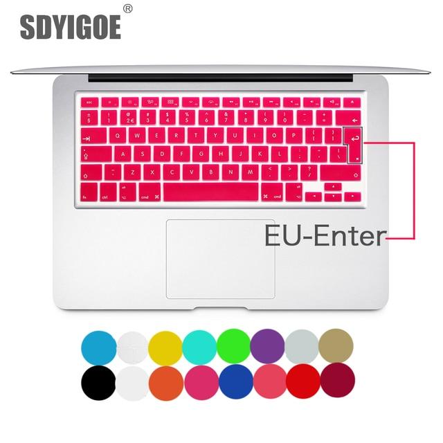 Laptop tastatur abdeckung für macbook air 13 pro 15 zoll A1466 A1502 A1278 A1398 EU SILIZIUM TASTATUR ABDECKUNG Farbe Schutzhülle Film