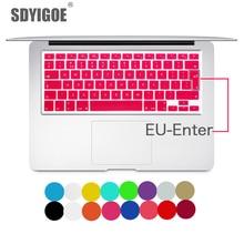 ノートパソコンのキーボードカバーのための macbook air 13 プロ 15 インチ A1466 A1502 A1278 A1398 eu シリコン色の保護フィルム