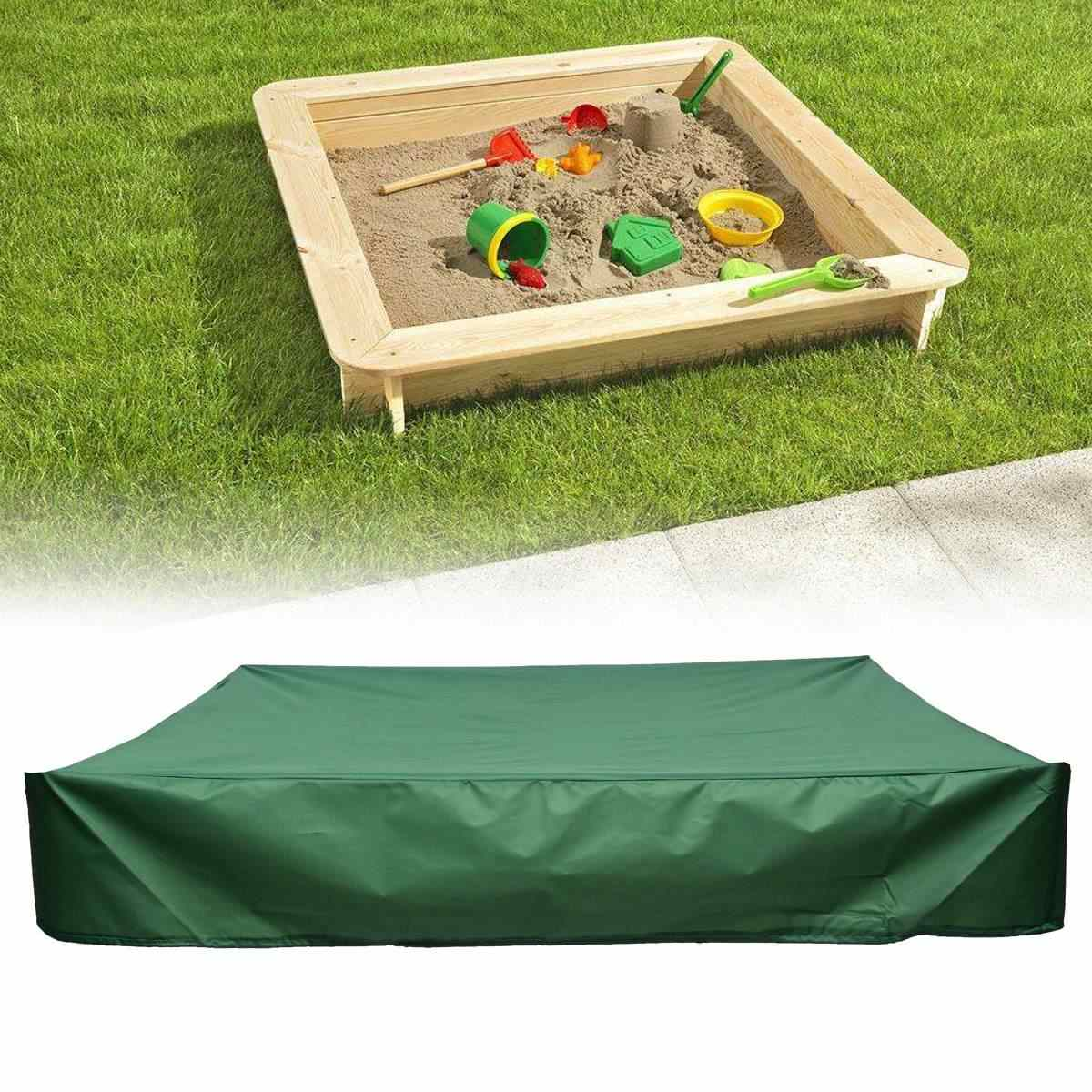 Square Waterproof Oxford Cloth Dust Cover Canopy Drawstring Sandbox Sandpit Dustproof Cover 120/150/180/200cm All-Purpose
