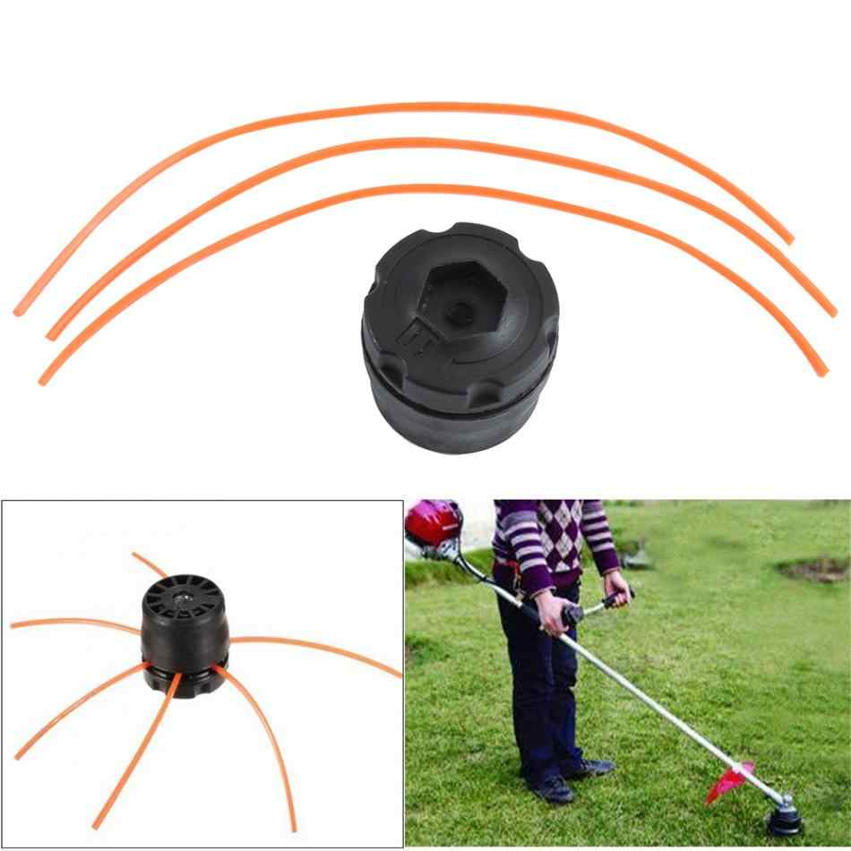 Universal Plastic Line Bump Cutting Trimmer Head with 3 Mowing Ropes Set For Lawn Brush Cutter Strimmers Replacement Hot