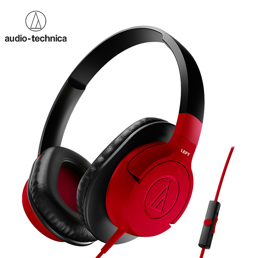Audio Technica ATH AX1iS Over Ear Headphones Portable Headsets 3 5mm Wired Gaming Earphones with In