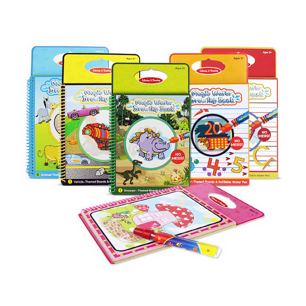 Sihir Air Menggambar Buku Buku Mewarnai Doodle & Magic Pena Lukisan Menggambar Papan Awal Pendidikan Mainan untuk Anak-anak Hadiah Ulang Tahun