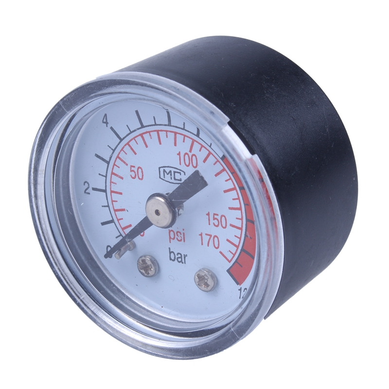 0-12BAR 0-170PSI 10mm Thread Gas Air Pump Pressure Gauge Compressor Manometer