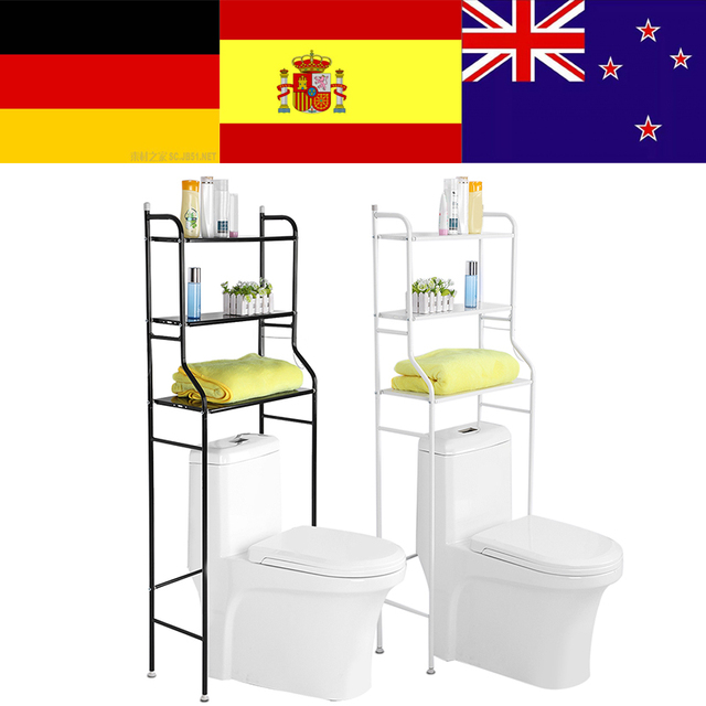 3 Tier Iron Toilet Towel Storage Rack  Over Bathroom Shelf Organizer for Store Shampoo / Towel etc Accessory High Quality hot