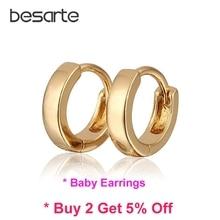 Baby Earring Gold Hoop Earrings Kids Infant Bijoux Aretes Bebe Orecchini Bambino Oorbellen Baby Jewelry Baptism Kolczyki E1582
