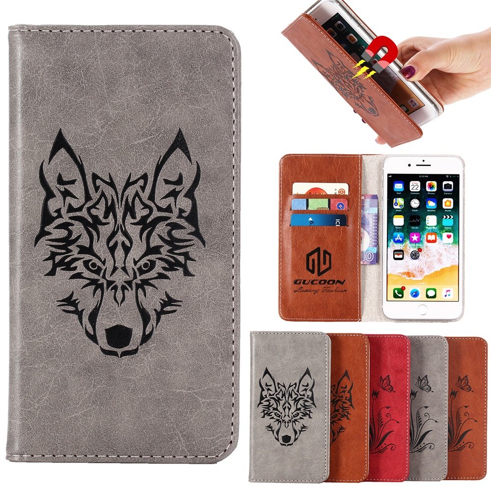 Adsorption Wallet for Black Fox Phone Cover for BlackBerry