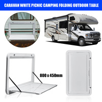 Autoleader 800 x 450mm Caravan White Picnic Camping Folding Outdoor Table Motorhome RV For Caravan Camp Motorhomes