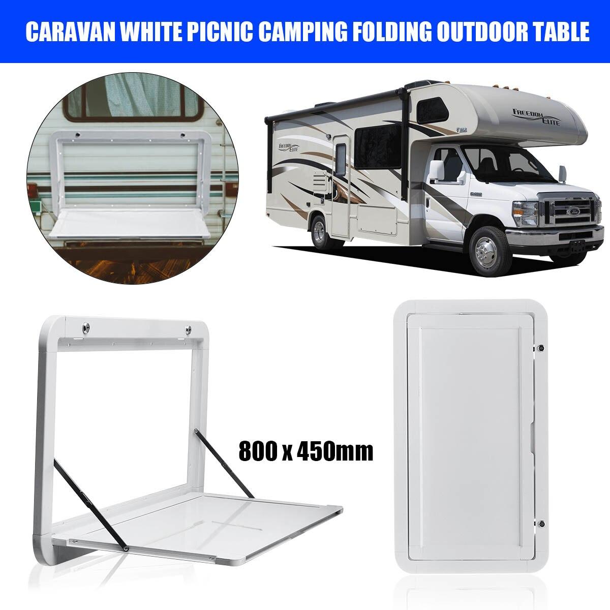 Autoleader 800x450mm caravane blanc pique-nique Camping pliant Table extérieure Camping-car RV pour Camping-cars caravane