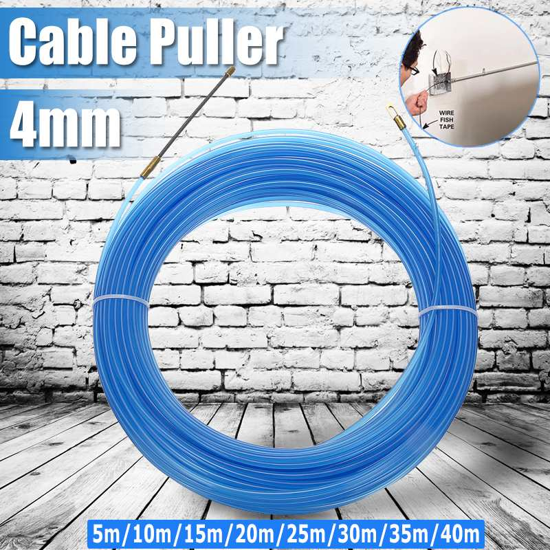 BECORNCE 4 мм прочное направляющее устройство из стекловолокна Электрический кабель Push Pullers воздуховод змея роддер Рыбная лента провод от 5 м до ...