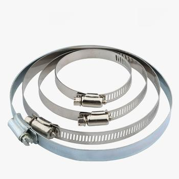 Adjustable Stainless steel 25-38mm 38-57mm 70-89mm 90-110mm 110-130mm 140-160mm Diameter Suction Hose Clamp Hoop Woodwork CNC image