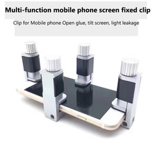 4pcs/Set Adjustable LCD Screen Fastening Clamp Phone Repair Tool Set For iphone for Samsung Tablet metal Screen Fixture Clip
