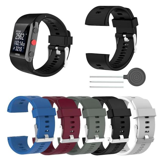ALLOYSEED Silicone Replacement Wrist Watch Band for Polar V800 Smart Bracelet with Tool Smart watch Strap for Men Women 18.5cm