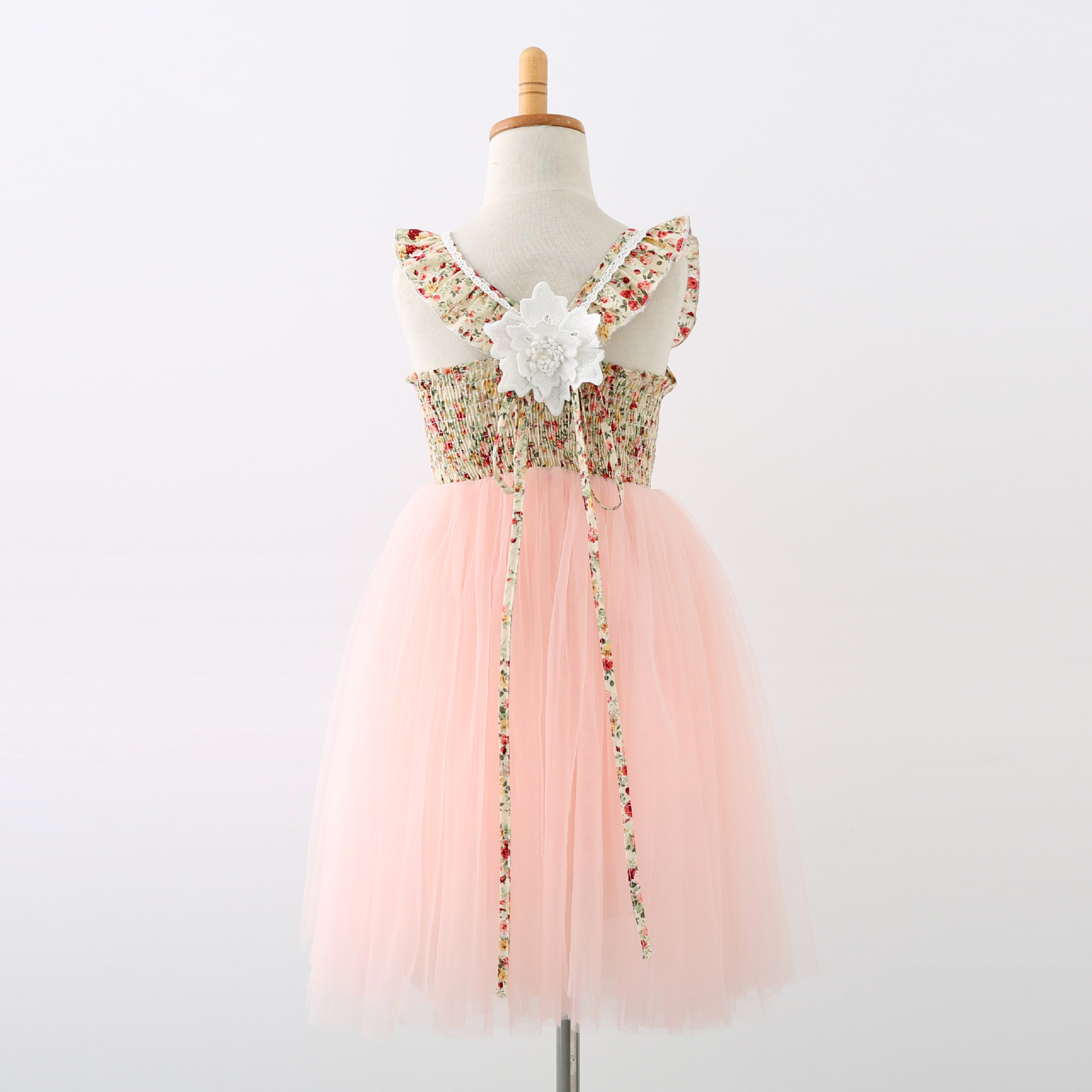 New Ins European and American Children's Princess Dress Girls' Performance Wedding Dress Girls Fashion Tutu Dresses ankle length-in Dresses from Mother & Kids    2