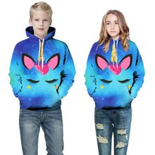 Купить с кэшбэком Kids Girls Sweater Star Digital Printing Europe and the America hooded children's clothing shirt