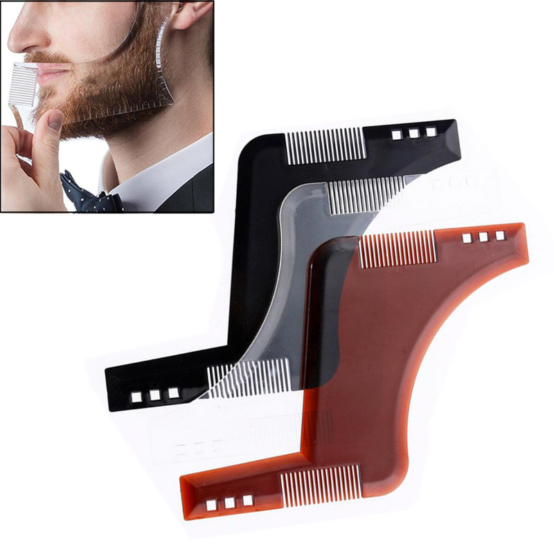 25% Beard Styling Template Stencil Beard Comb For Men Lightweight And Flexible Fits All-In-One Tool Beard Shaping Tool