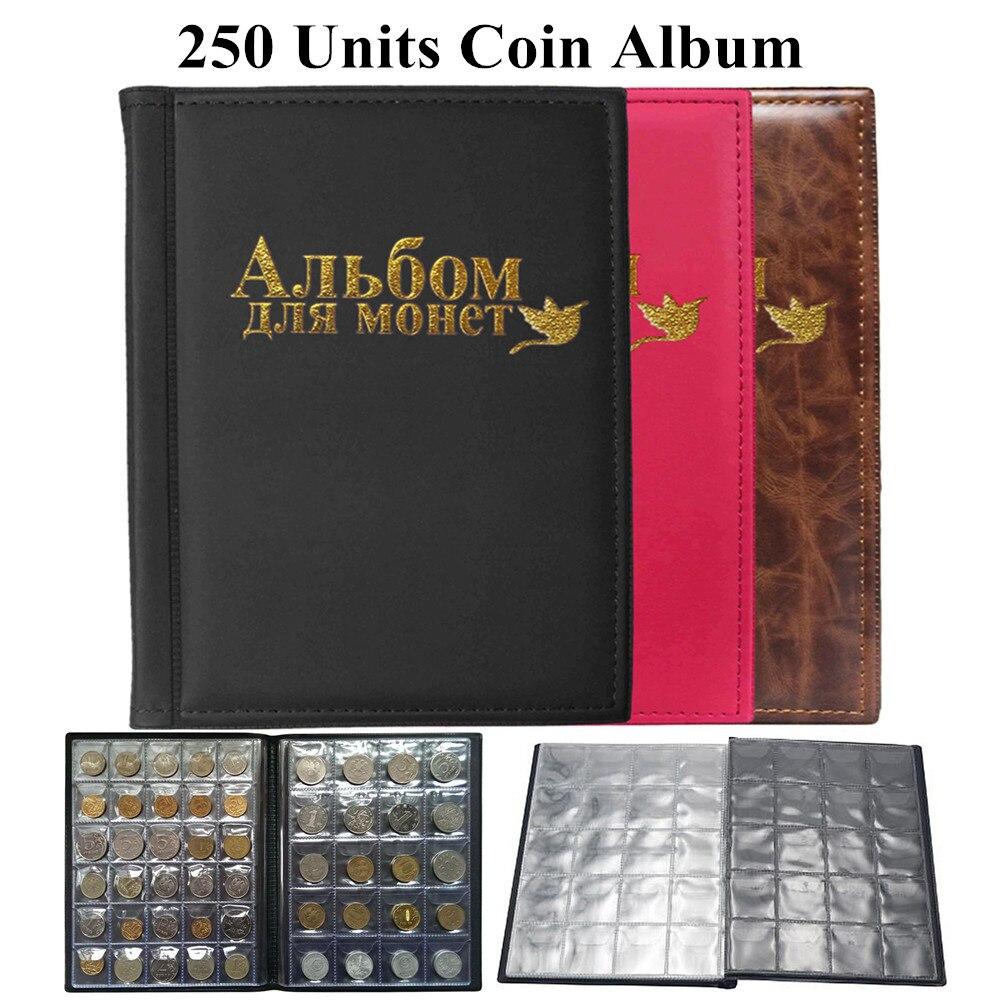 Альбом для монет 250 шт., книга для коллекционирования монет, домашний декор, фотоальбом для коллекционера, подарки, держатель для монет, Прям...