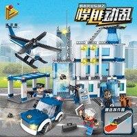 Строительные блоки игрушки город Полиция серии масштабные Городские Сцены рисунок образовательное строительство игрушка для детей