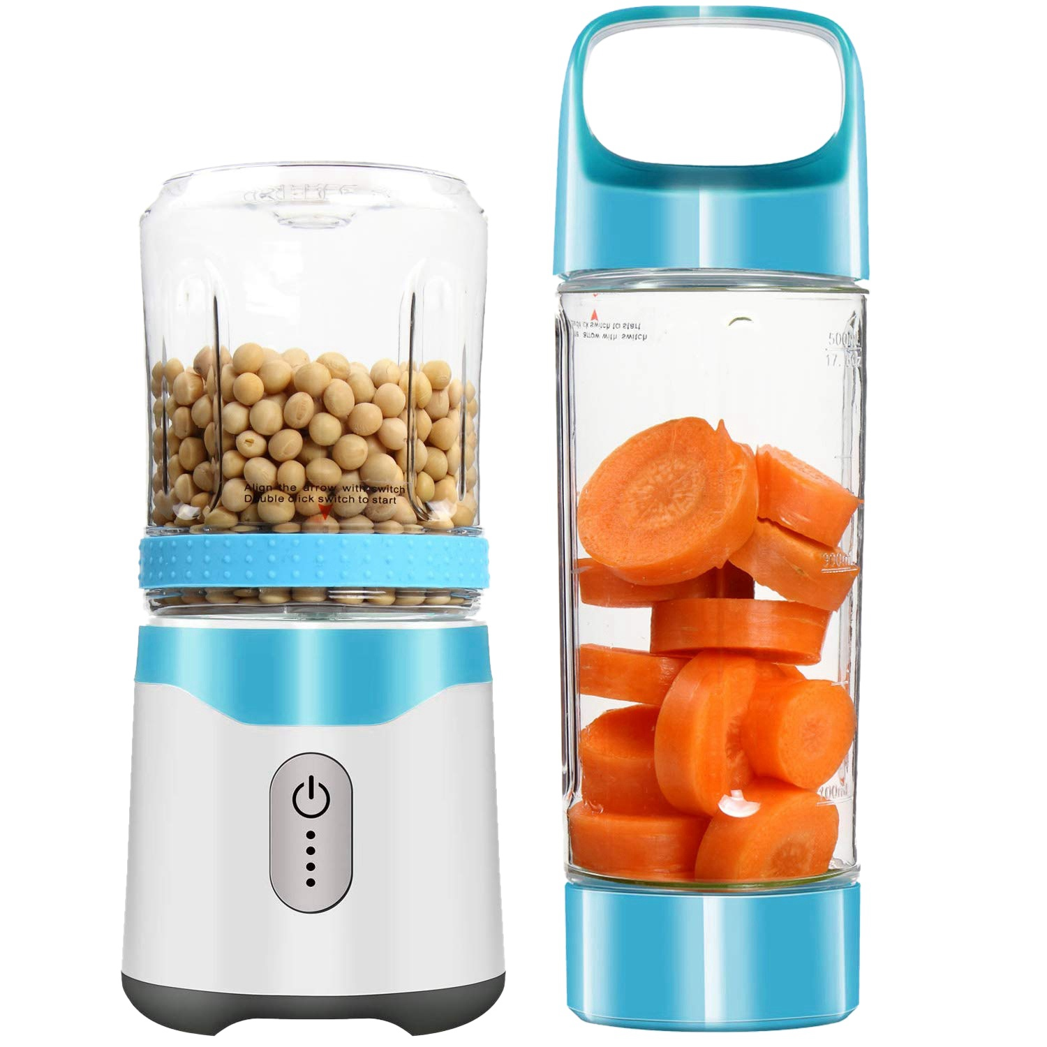 Personal Portable Blender Usb Juicer Rechargeable Travel Juice 350ML 500ML 6 Blades Baby Food Mixer Ice Smoothie Drop Shipping