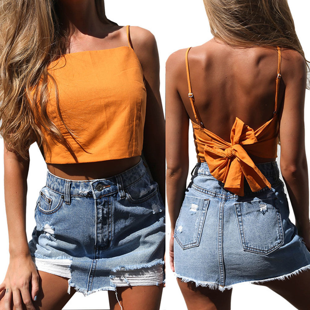 Summer Sexy Fashion Women Lady Backless Loose Sleeveless Casual   Tank     Tops   Clothes