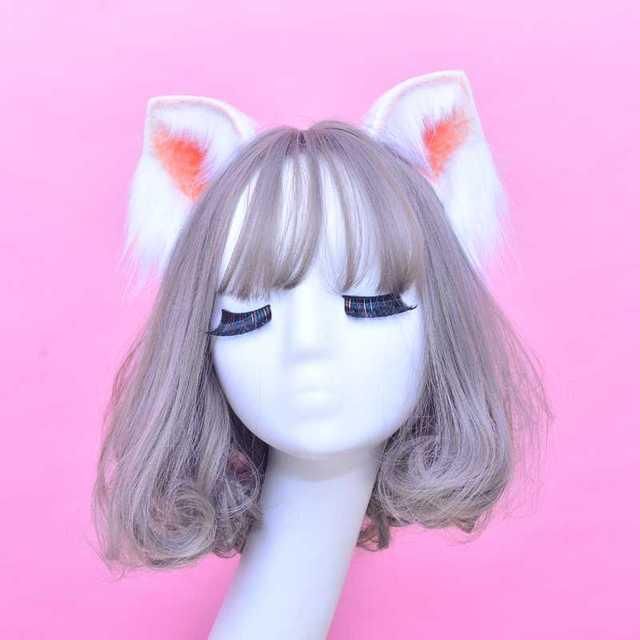 Обруч для волос с кошачьими ушками Женский, шпилька для волос, аксессуар для волос, ручная работа с бантом, оленем