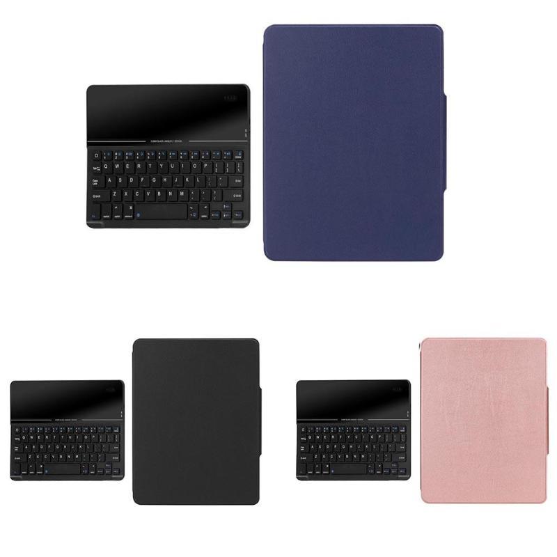 Housse de protection Portable sans fil Bluetooth en verre trempé clavier en cuir avec fente pour stylo clavier pour iPad 9.7 2018