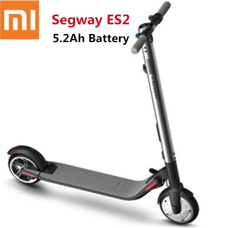 2018 Ninebot Segway KickScooter ES2 Smart Electric Kick Scooter foldable lightweight board hoverboard skateboard hover board