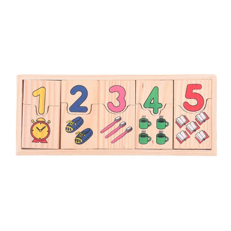 Learning Education Montessori Wooden Math Toys Wooden Count Geometric Shape Cognition Match Baby Early Education Math Toys