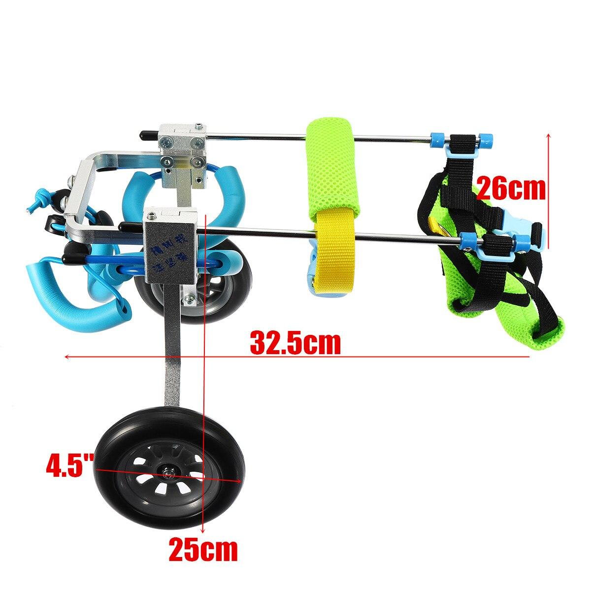 Kit de chariot de corde de Traction de marche fauteuil roulant d'animal familier pour le chien handicapé chien toutou chiot léger Portable ajusté accessoires retirés