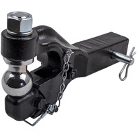 For 8 Ton Ball Combo Pintle Tow Hook Receiver Arm Hitch Towing 4WD Truck QXPA