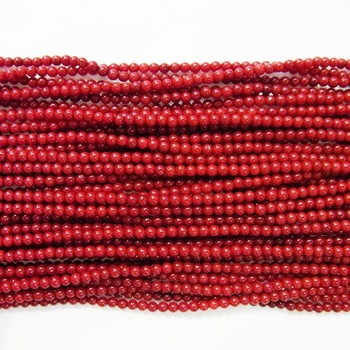 2017 Hot Sale Special Offer Coral Natural Genuine Loose Beads 4mm Round Dark 7.5 Inches Length 19 Wholesale