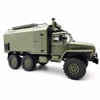 Wpl B36 Ural 1/16 2.4G 6Wd Rc Truck Rock Crawler Command Communication Vehicle Rtr Toy Auto Army Trucks Radio Rc Truck Toys