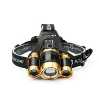 DE.SOUL 20W Rechargeable 3LED HeadLamp Body Motion Sensor T6 Bicycle Head Light Lamp Outdoor Camping Flashlight With Rotary Zoom