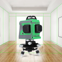 12 Lines 3D Level Laser Level Meter 360 Degree Horizontal And Vertical Cross Super Powerful Green Laser