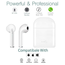 2019 i7S TWS Mini Bluetooth Earphones Headphones Stereo Bass Wireless Headset Earbuds with Mic Charging Box for All Smart phone купить недорого в Москве